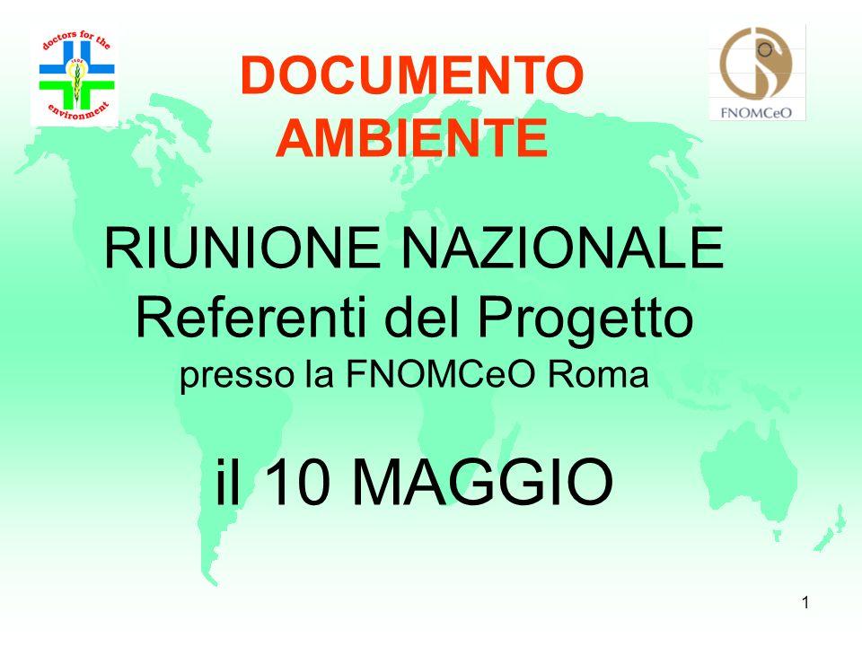 RIUNIONE NAZIONALE Referenti del Progetto