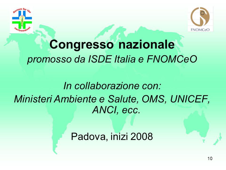 Congresso nazionale promosso da ISDE Italia e FNOMCeO