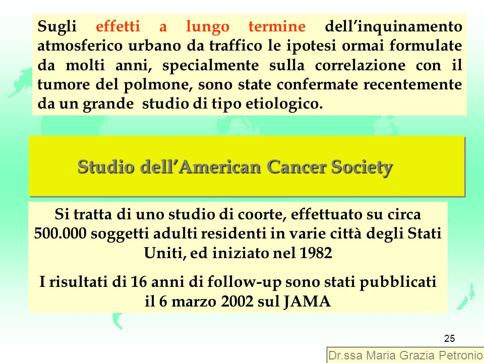 Studio dell'American Cancer Society