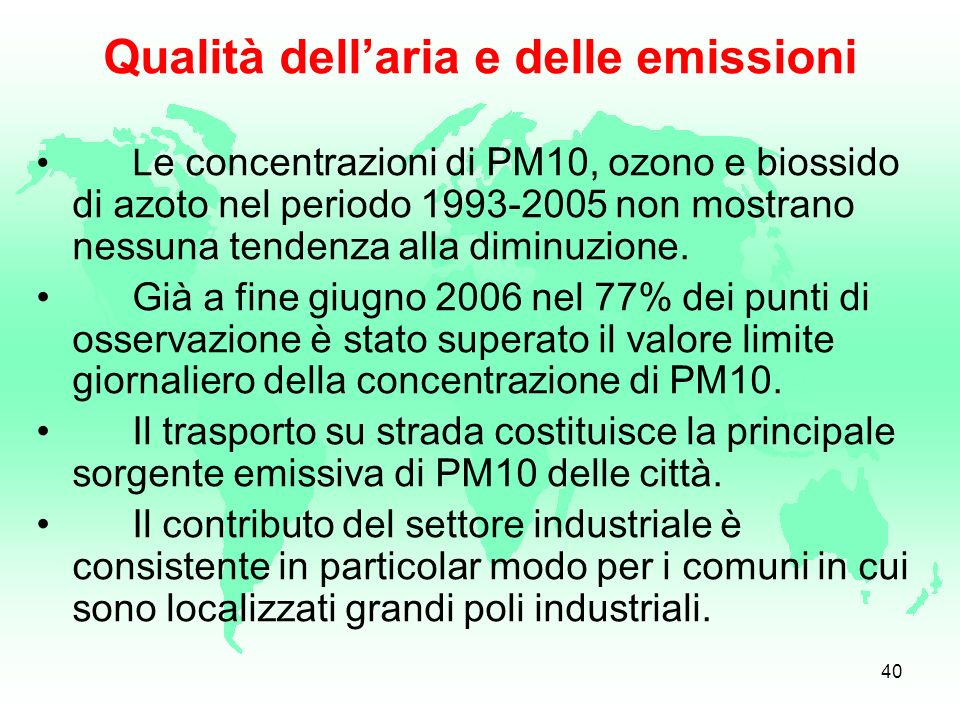 Qualità dell'aria e delle emissioni