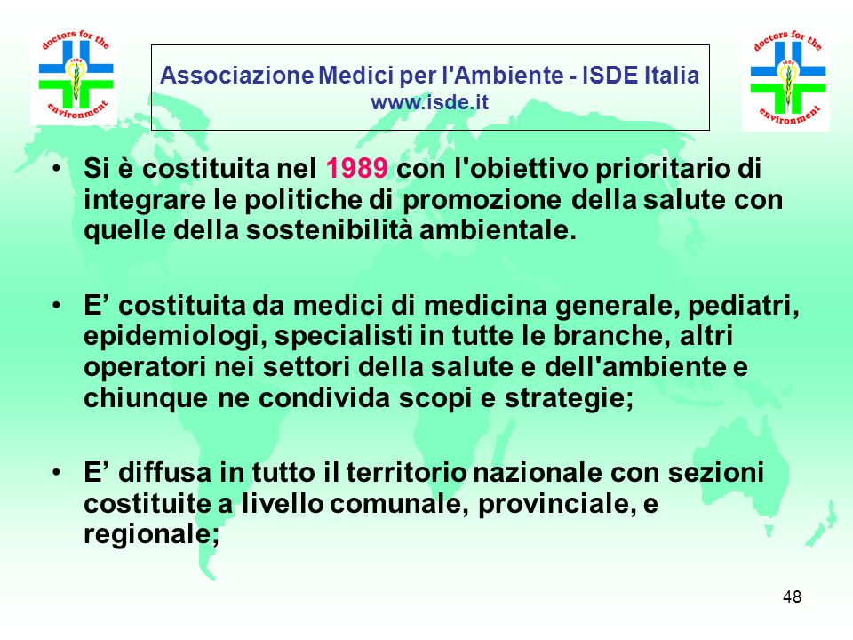 Associazione Medici per l Ambiente - ISDE Italia