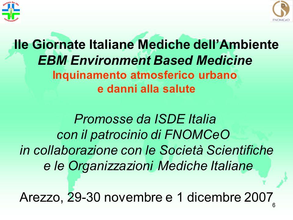 IIe Giornate Italiane Mediche dell'Ambiente