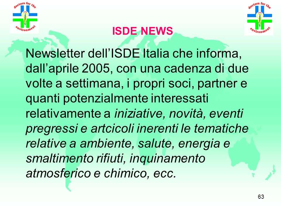 ISDE NEWS