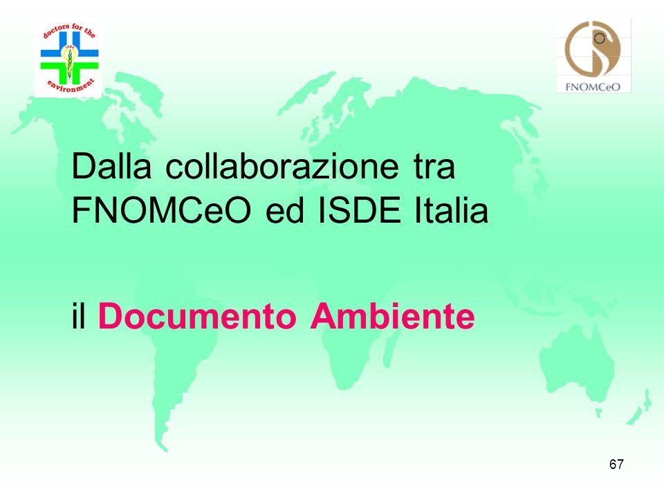 Dalla collaborazione tra FNOMCeO ed ISDE Italia