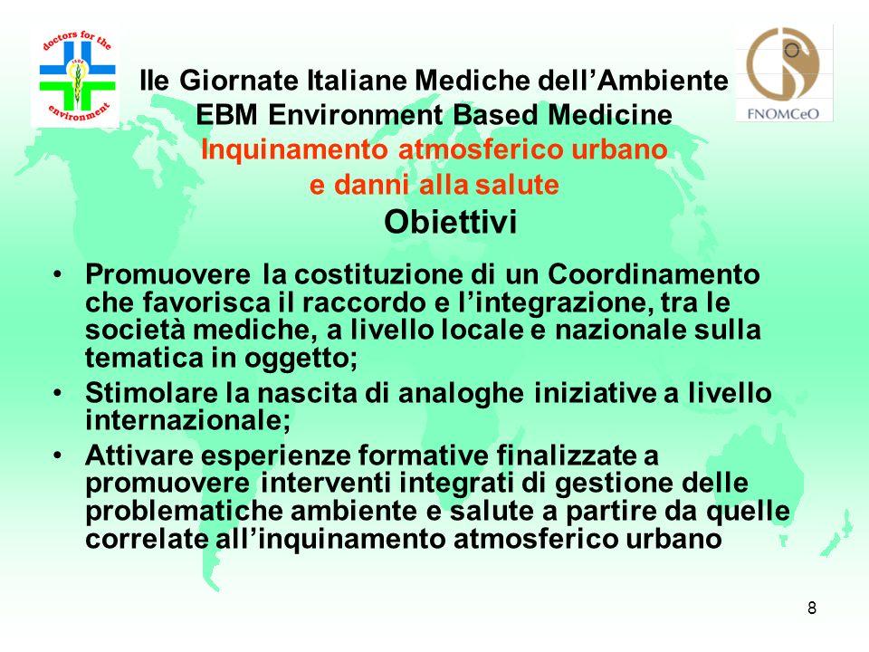 Obiettivi IIe Giornate Italiane Mediche dell'Ambiente