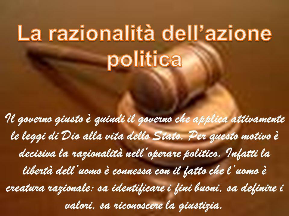La razionalità dell'azione politica