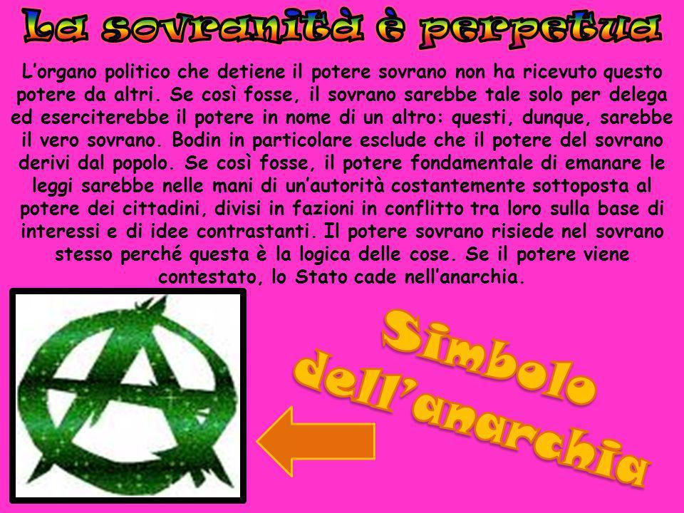 La sovranità è perpetua Simbolo dell'anarchia