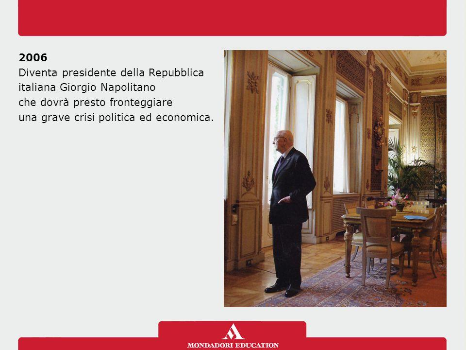 Diventa presidente della Repubblica italiana Giorgio Napolitano