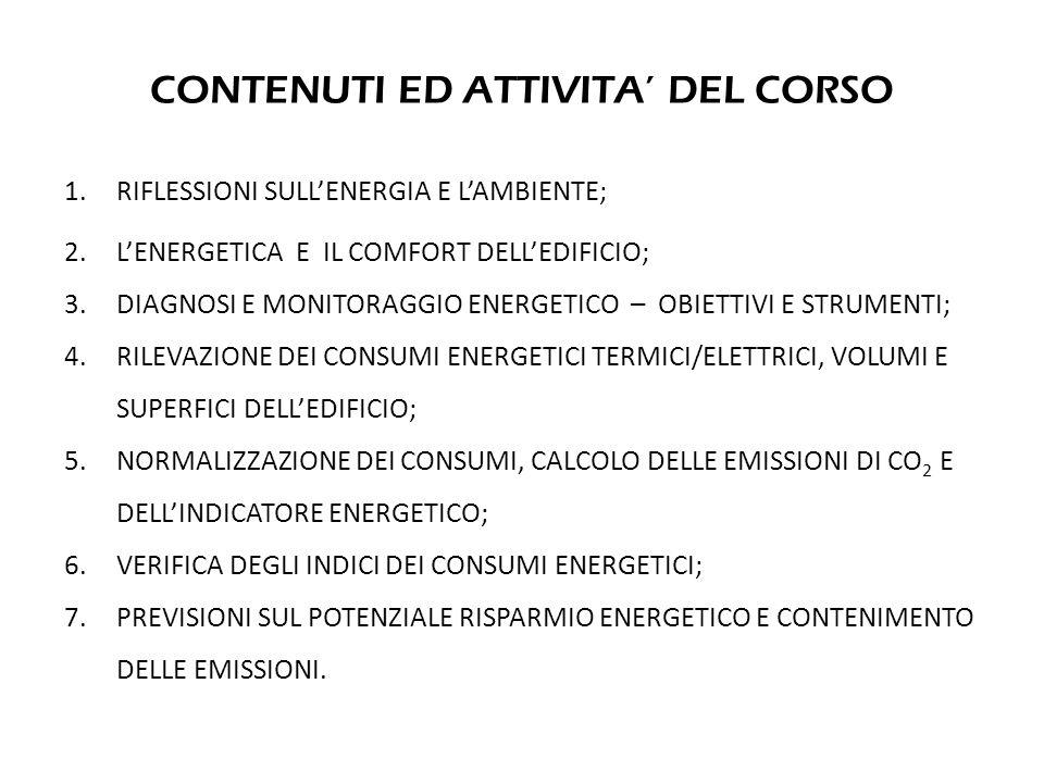 CONTENUTI ED ATTIVITA' DEL CORSO