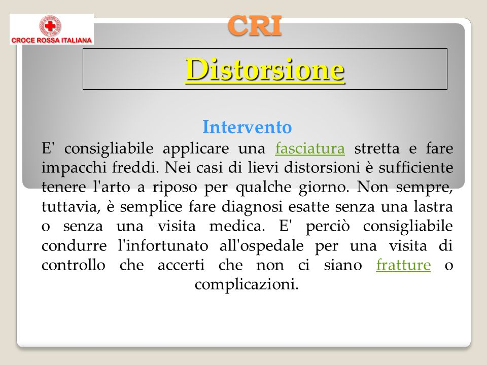CRI Distorsione.