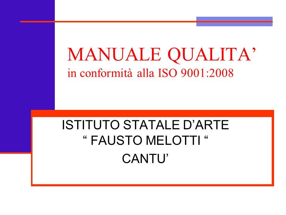MANUALE QUALITA' in conformità alla ISO 9001:2008