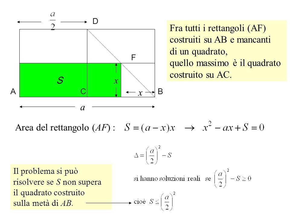 Fra tutti i rettangoli (AF) costruiti su AB e mancanti di un quadrato,