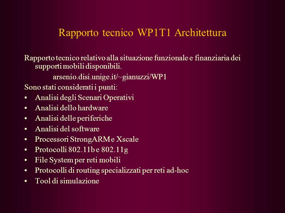 Rapporto tecnico WP1T1 Architettura