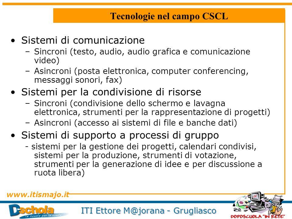 Tecnologie nel campo CSCL