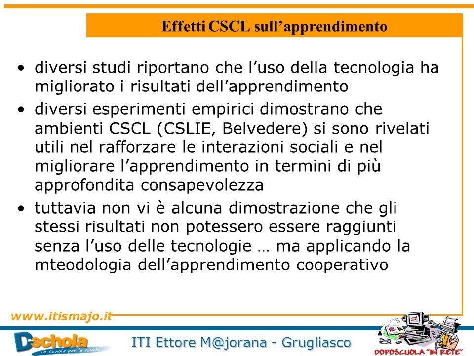 Effetti CSCL sull'apprendimento