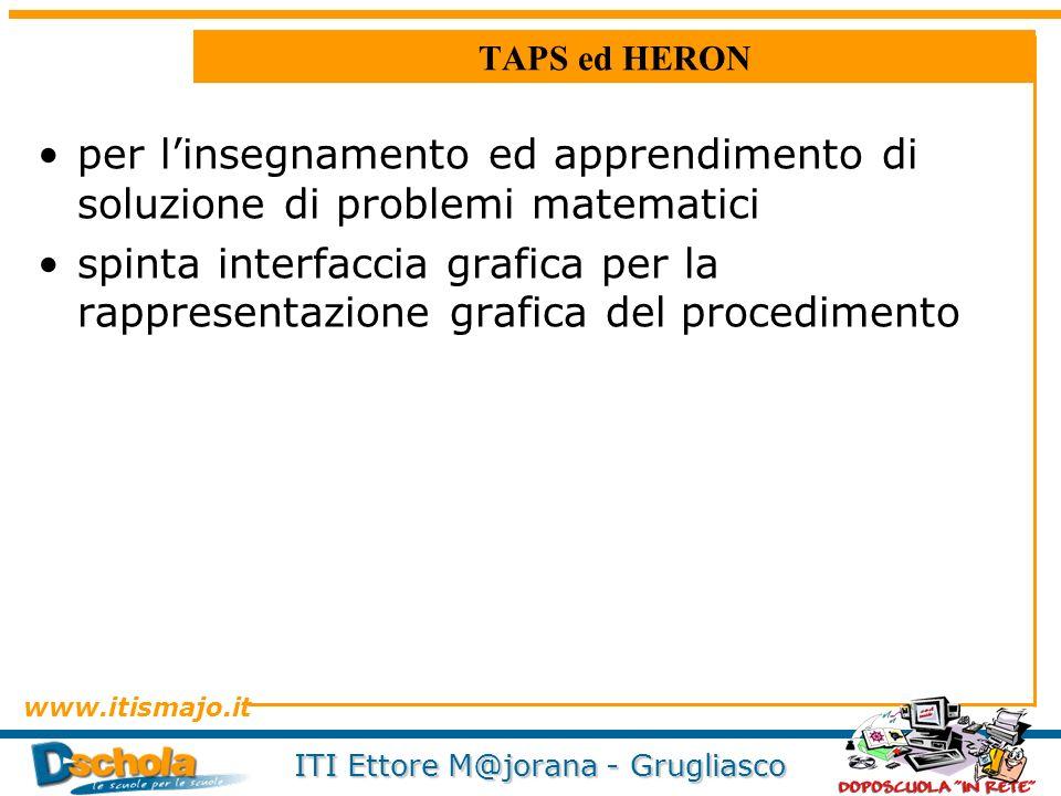 TAPS ed HERON per l'insegnamento ed apprendimento di soluzione di problemi matematici.