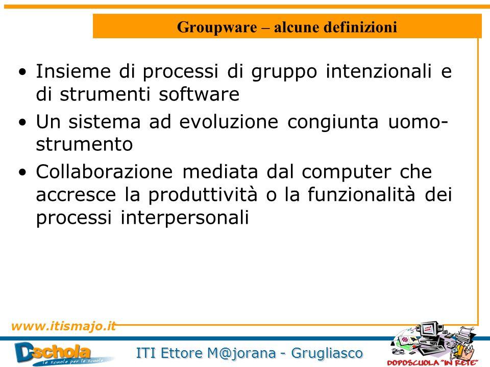 Groupware – alcune definizioni