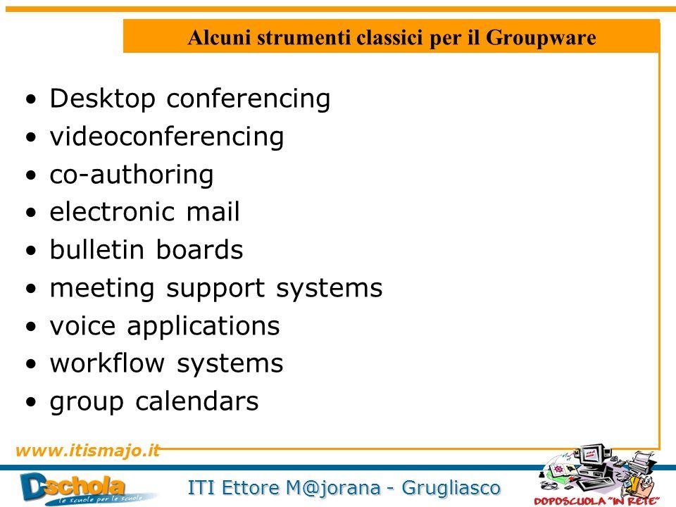 Alcuni strumenti classici per il Groupware