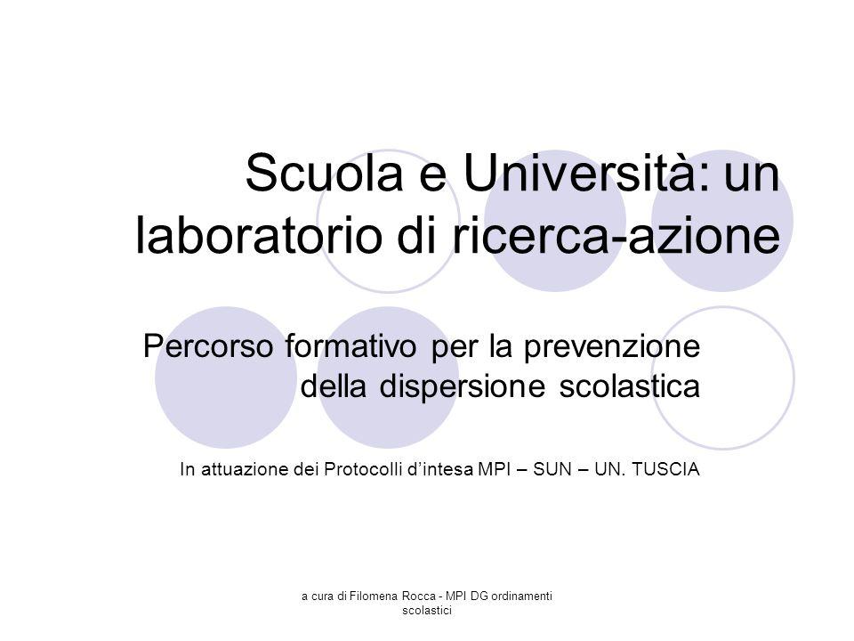 Scuola e Università: un laboratorio di ricerca-azione