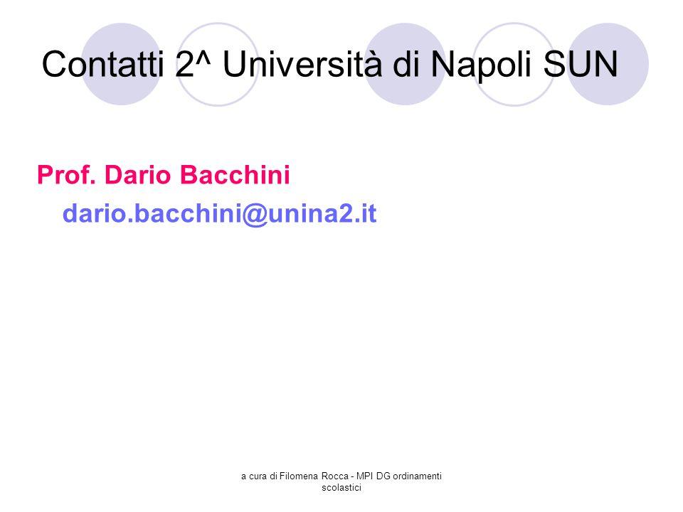 Contatti 2^ Università di Napoli SUN