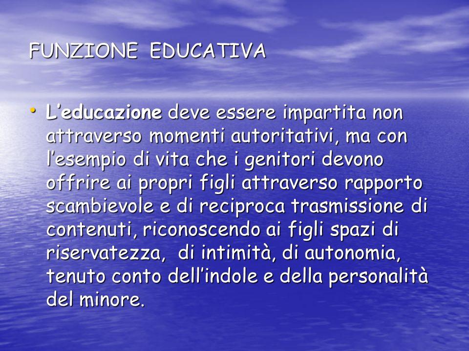 FUNZIONE EDUCATIVA