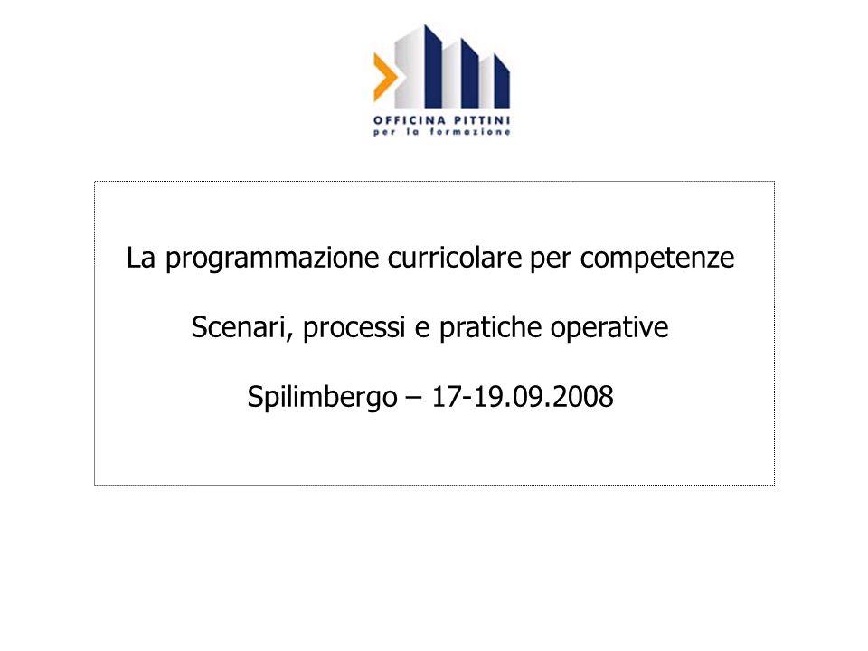 La programmazione curricolare per competenze