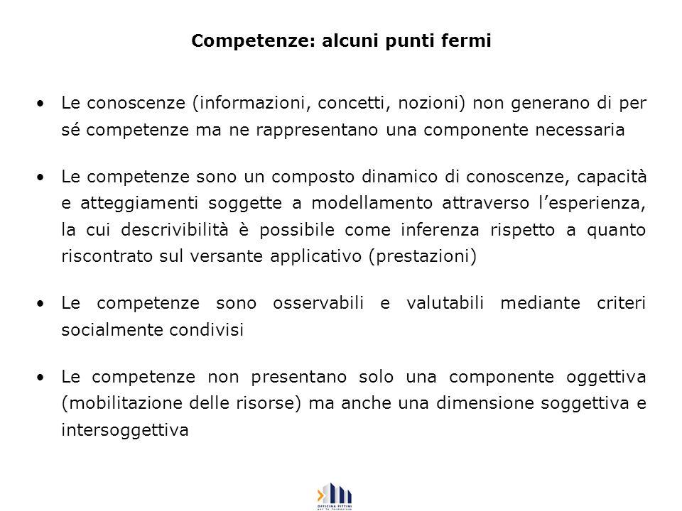 Competenze: alcuni punti fermi