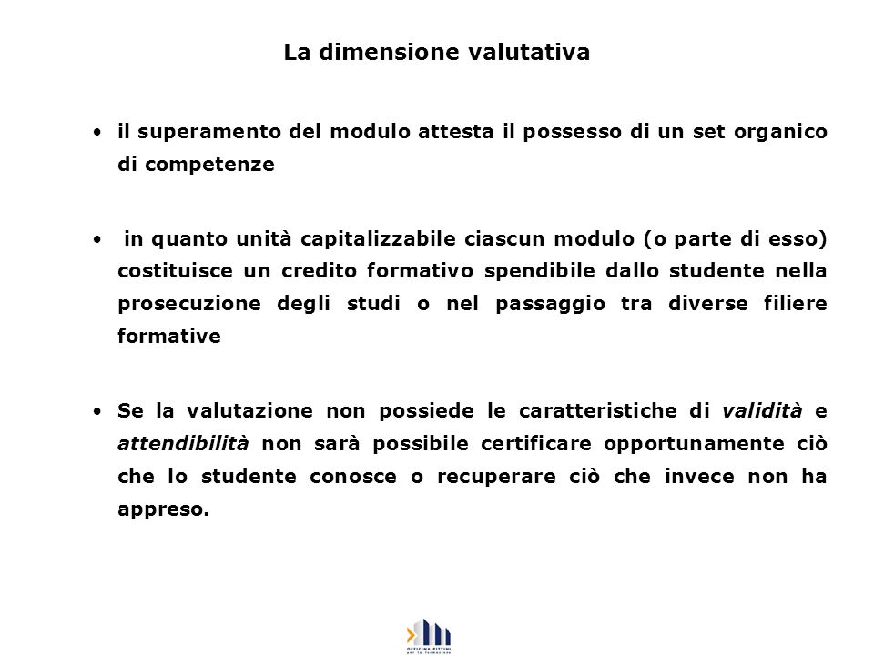 La dimensione valutativa