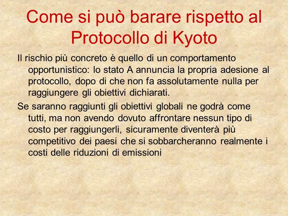 Come si può barare rispetto al Protocollo di Kyoto