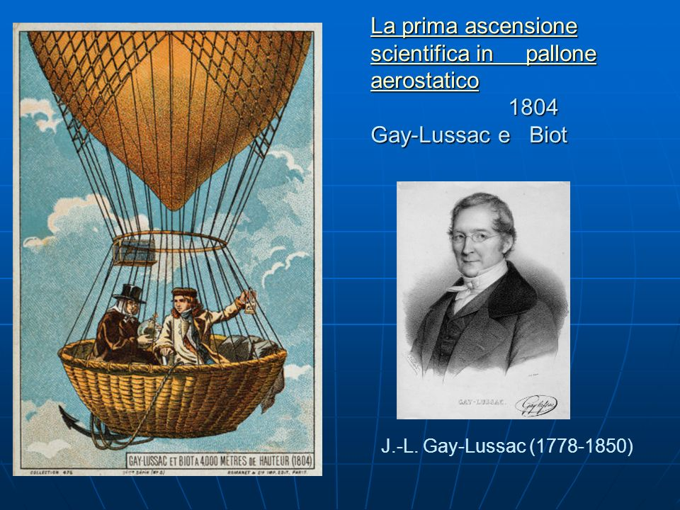 La prima ascensione scientifica in pallone aerostatico 1804 Gay-Lussac e Biot