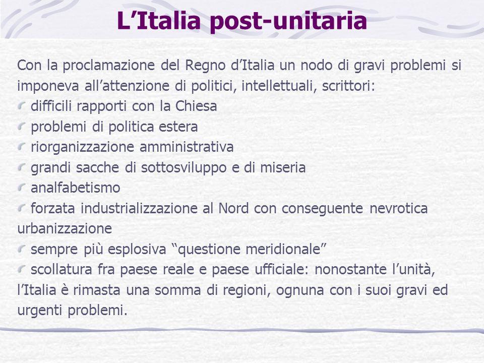L'Italia post-unitaria