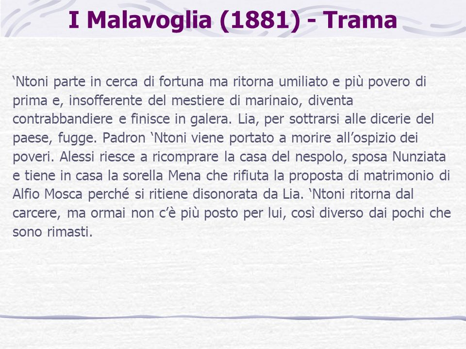 I Malavoglia (1881) - Trama