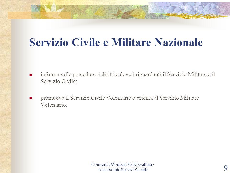 Servizio Civile e Militare Nazionale