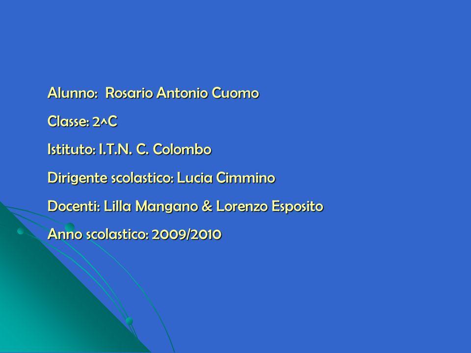 Alunno: Rosario Antonio Cuomo