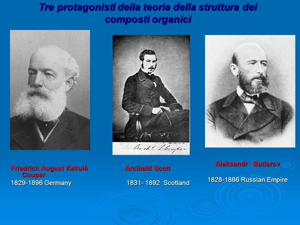 Tre protagonisti della teoria della struttura dei composti organici