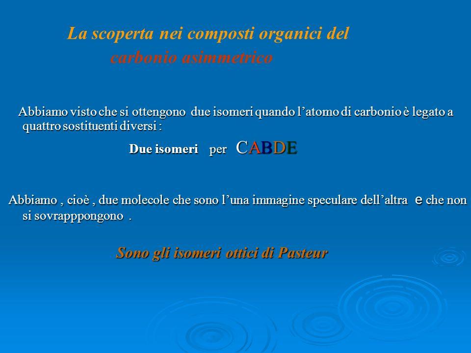 carbonio asimmetrico La scoperta nei composti organici del