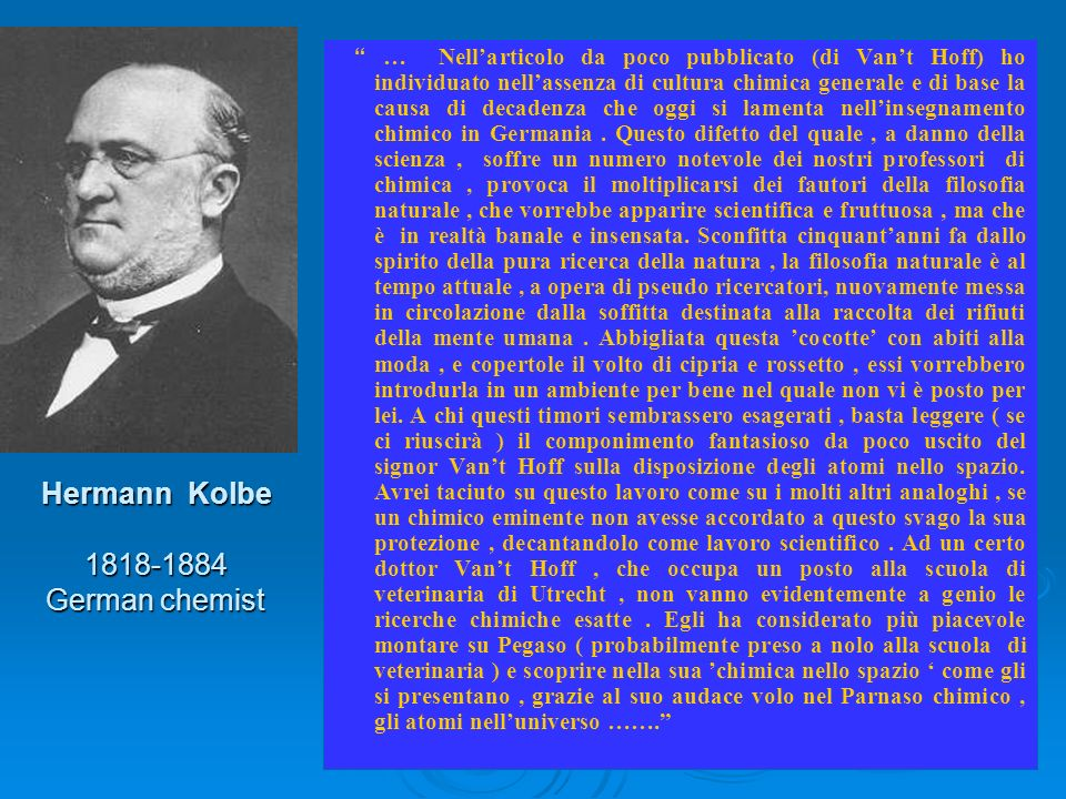 Hermann Kolbe 1818-1884 German chemist