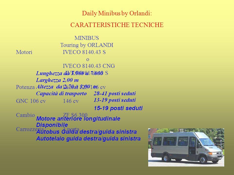 Daily Minibus by Orlandi: CARATTERISTICHE TECNICHE