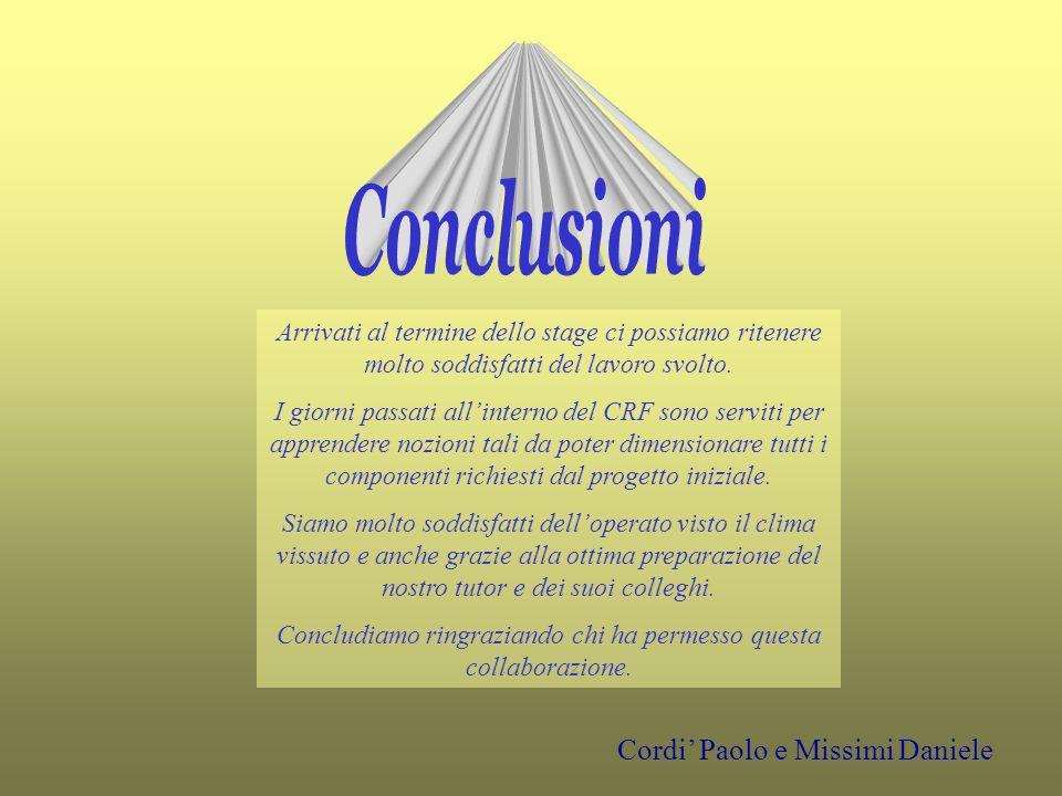 Conclusioni Cordi' Paolo e Missimi Daniele