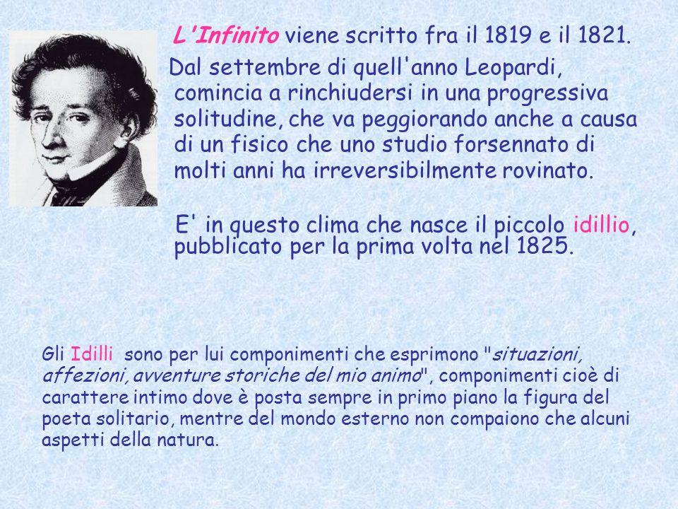 L Infinito viene scritto fra il 1819 e il 1821.