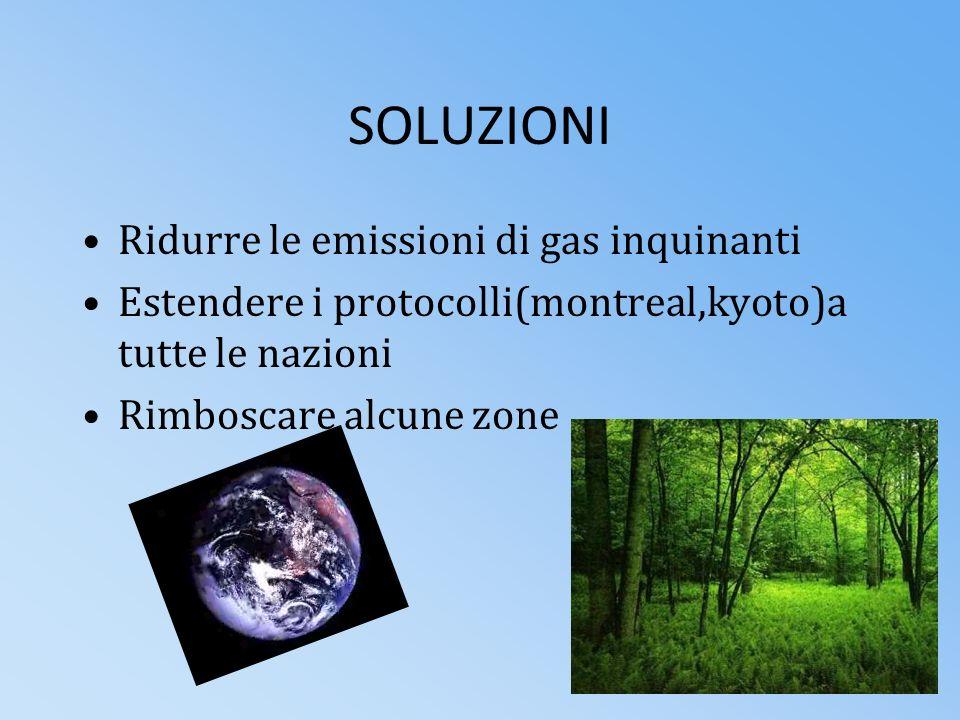 SOLUZIONI Ridurre le emissioni di gas inquinanti