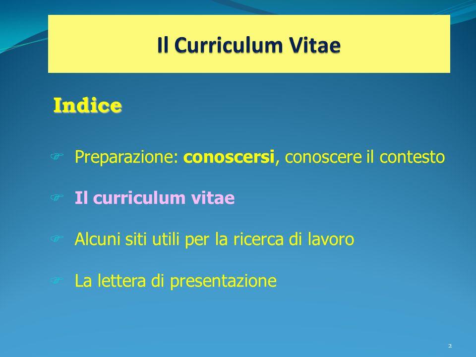 Il Curriculum Vitae Indice