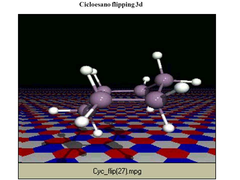 Cicloesano flipping 3d