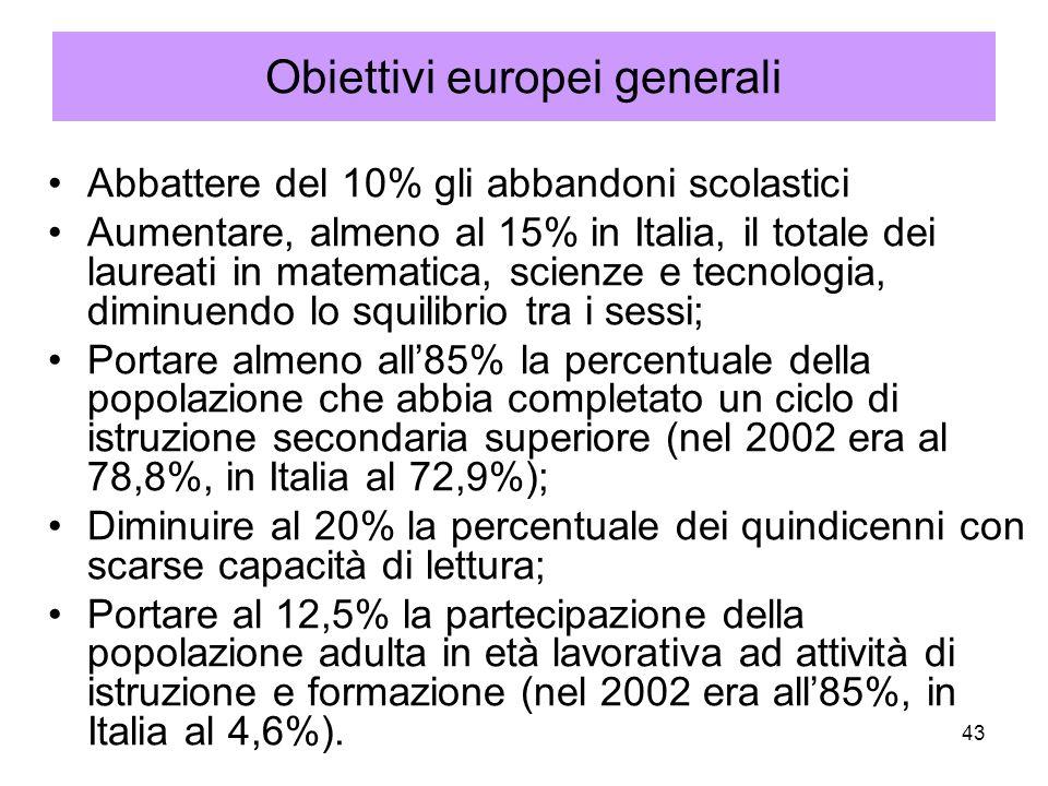 Obiettivi europei generali