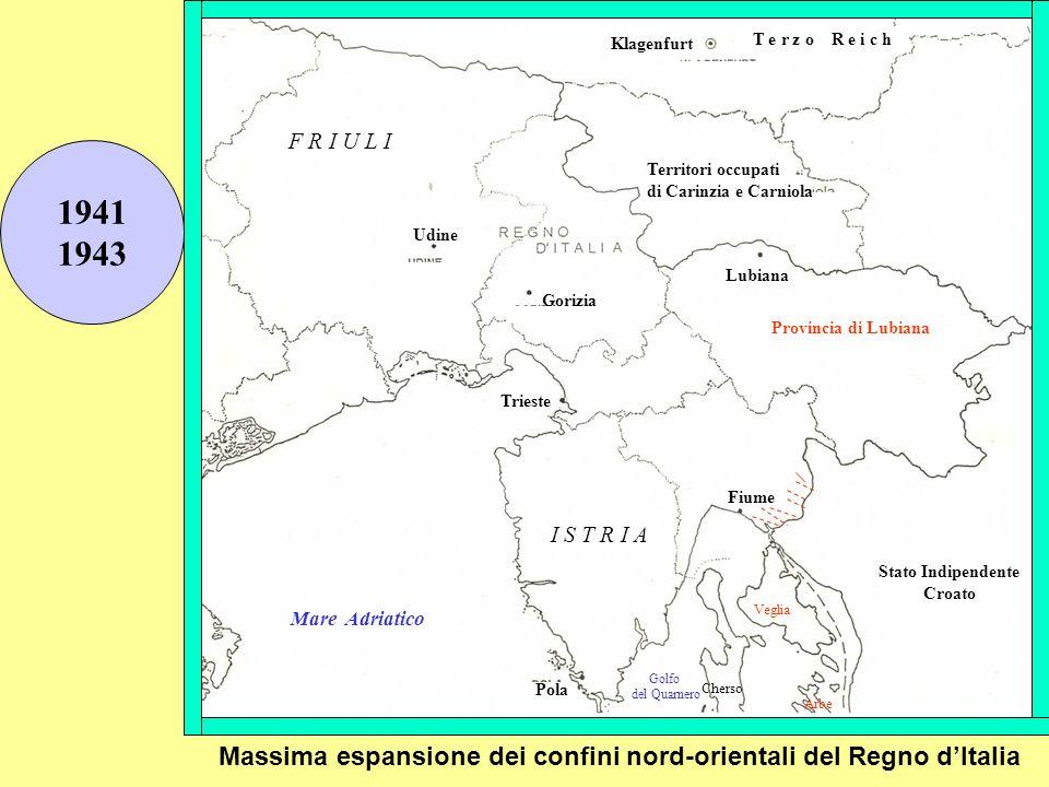 T e r z o R e i c h Klagenfurt. F R I U L I. 1941. 1943. Territori occupati. di Carinzia e Carniola.