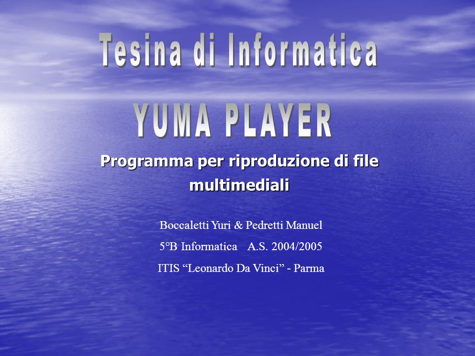 Programma per riproduzione di file multimediali
