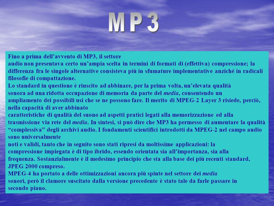 MP3 Fino a prima dell'avvento di MP3, il settore