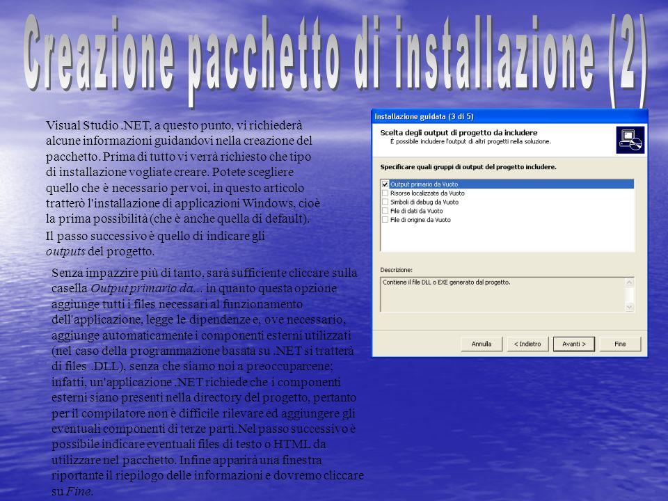 Creazione pacchetto di installazione (2)