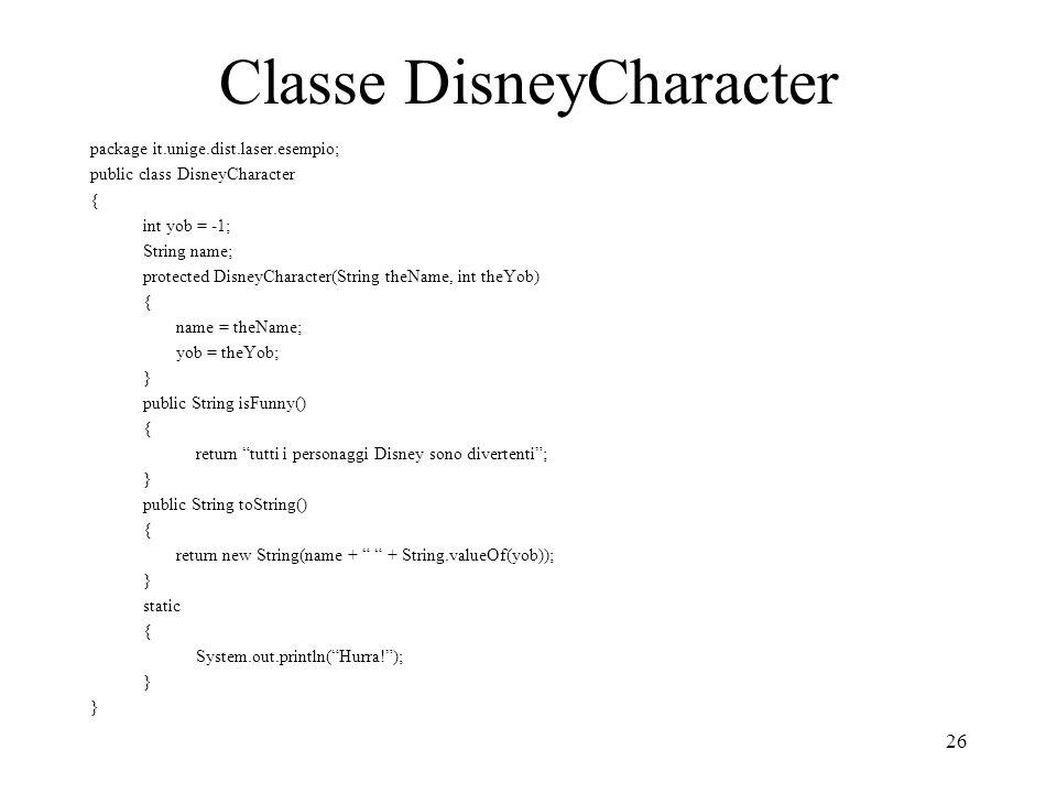 Classe DisneyCharacter