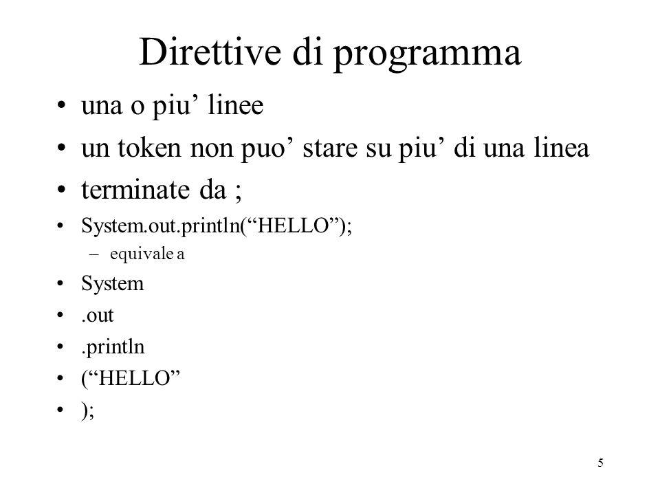 Direttive di programma